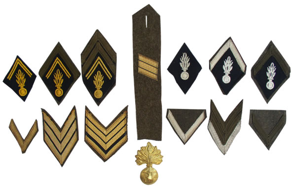 prévôté militaire 2ème DB Galons%20gendarmerie
